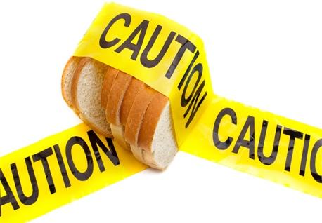 Gluten free caution
