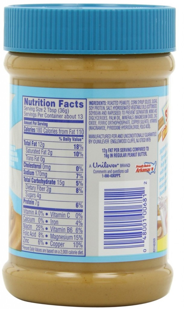 reduced fat peanut butter